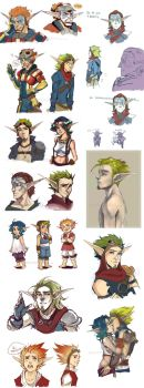 Jak and Daxter doodles by Sardiini