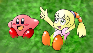 .:RQ:. Kirby and Tiff Watching The Clouds by EMMYtheK