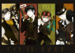4 Boys in steampunk!!! by shiron2611