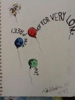 What Balloons Think When Escaping by theoddlydifferentone