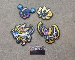 Sun + Moon Legends - Pokemon Perler Bead Sprites by MaddogsCreations