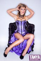 Tanya Tate In Purple Basque by Josh Ryan by TanyaTate