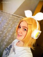 Rin Kagamine Wig Preview by dawnleapord