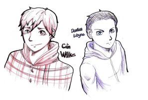sketches- colin and damian by yong-rein