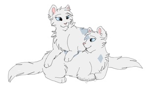 Crystalclaw and Frostfoot by CascadingSerenity
