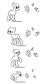 Free Pony Bases by MochiFries