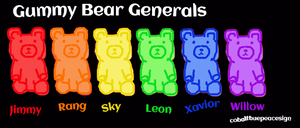 Gummy Bear Generals by cobaltbluepeacesign