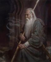 Gandalf in Moria- The Three Doorways by DonatoArts