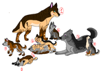 Wolfes adoptables by Karr-Adoptables