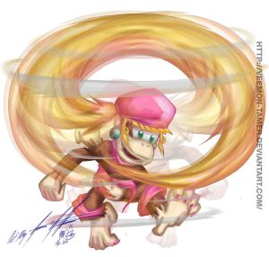 UP B - SSB4 - DIXIE KONG MOVE SET WIP by veemon-tamer