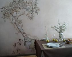 Old Tree Mural by MaggieWallPainting