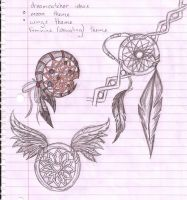 Dream Catcher Tattoo layouts by twilightrose15