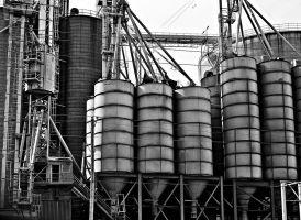 Grain Dryer - Black and White by KameleonKlik