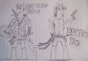 andrew and daring do 2 by spyaroundhere35