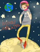 Moon Walking by AiArisu-chan