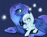 Luna and Snowdrop by Santagiera