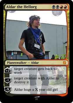 MTG Aldar the Hellorg by ampher