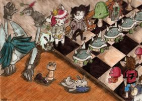 Chess Soldiers by Gajebump