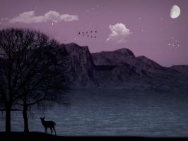 Lonely Deer by Muggi93
