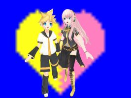 Len and luka running! by Paradi-Len-Kagamine