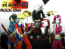 Naruto Team 7 Band-ROCK ROLL by John2damax