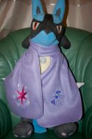 twilight Sparkle Embroidered Fleece Scarf by GothyBeans