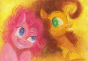 Commission 5~ Elchar~ Pinkie and Cheese Sandwitch by Mao-Ookaneko