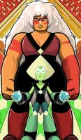 Jasper And  Peridot by Thuddleston