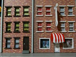 bakery and apartments close up by wroquephotography