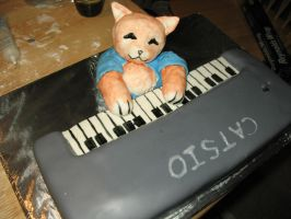 Keyboard Cat Cake by Celsia