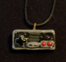 Nintendo Controler Necklace by JediArtisan