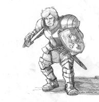 Knight Pencil Sketch by GENocideFJS