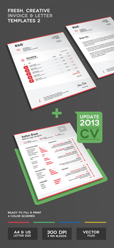 Invoice And Letter Templates II by onlycreativeworks