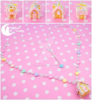 Candy house Necklace by CuteMoonbunny