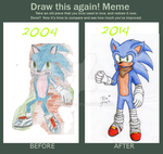 Draw this again -Sonic- by BlueStylz