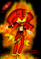 Daisy .:Total Chaos form:. Red emerald - fire by xX-Daisy-chan-Xx