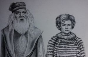 Dumbledore and Umbridge by LilMissLeah