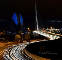 Valencia at night by Nestule