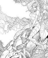 Enslaved Cover WIP 07 by RobDuenas