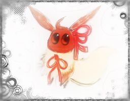 FB RQST Fest : Bow Eevee by Toothless6reach