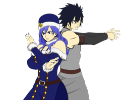 Juvia and Gray - Fairy Tail by DudnxJC