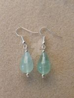 Fluorite Drop Earrings - Aqua or Teal by WhiteMagicPriestess