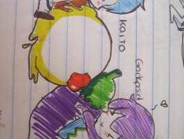 Kaito and Gackpoid by Vocaloid12