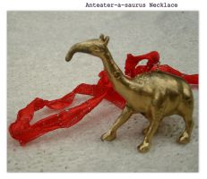 Anteater Dinosaur Necklace by star-venture