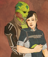 Comm: Thane and Shepard by Vaahlkult