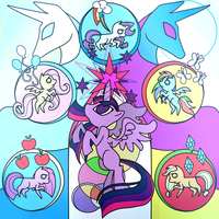 -Magical Mystery Cure- stained glass by linamomoko