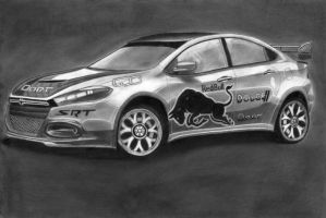 Dodge This DART R/T Special edition Pencil Sketch by diablocyrus