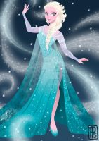 Disney Frozen-Elsa by pixonsalvaje