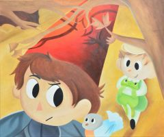 Over The Garden Wall Oil Painting by StevenQuartzUniverse