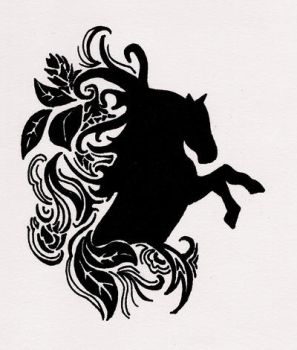 Horse tattoo by Butterflyemily